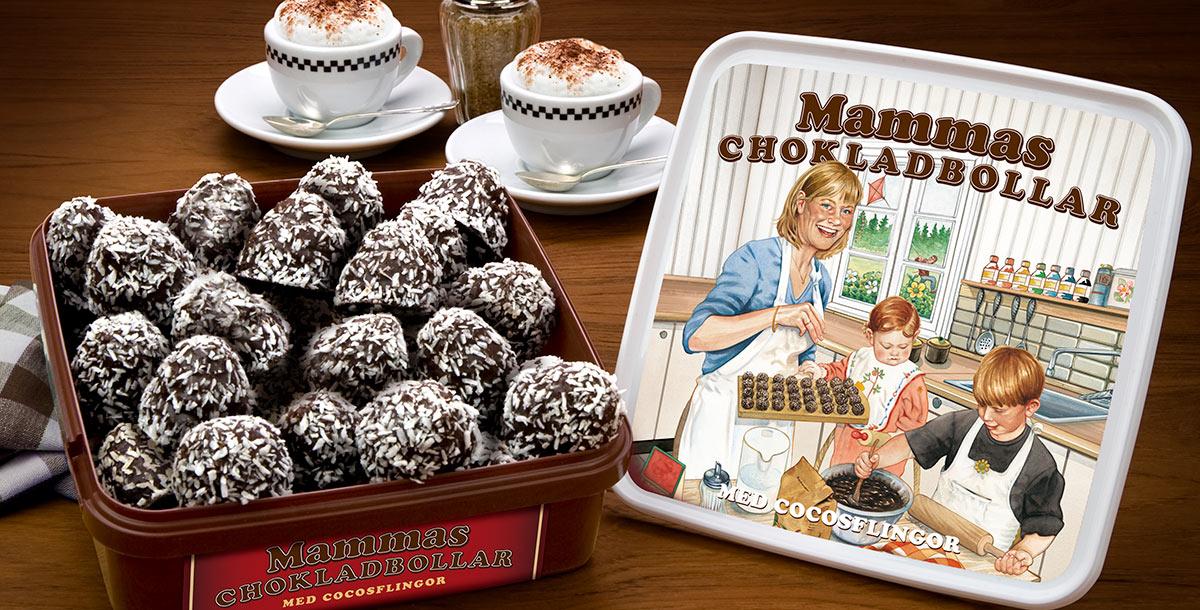 Mammas chokladbollar recept