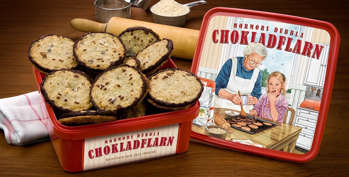 dubbla chokladflarn recept